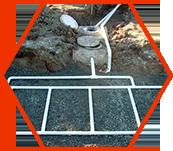 Champs d'épuration pour absorber l'eau
